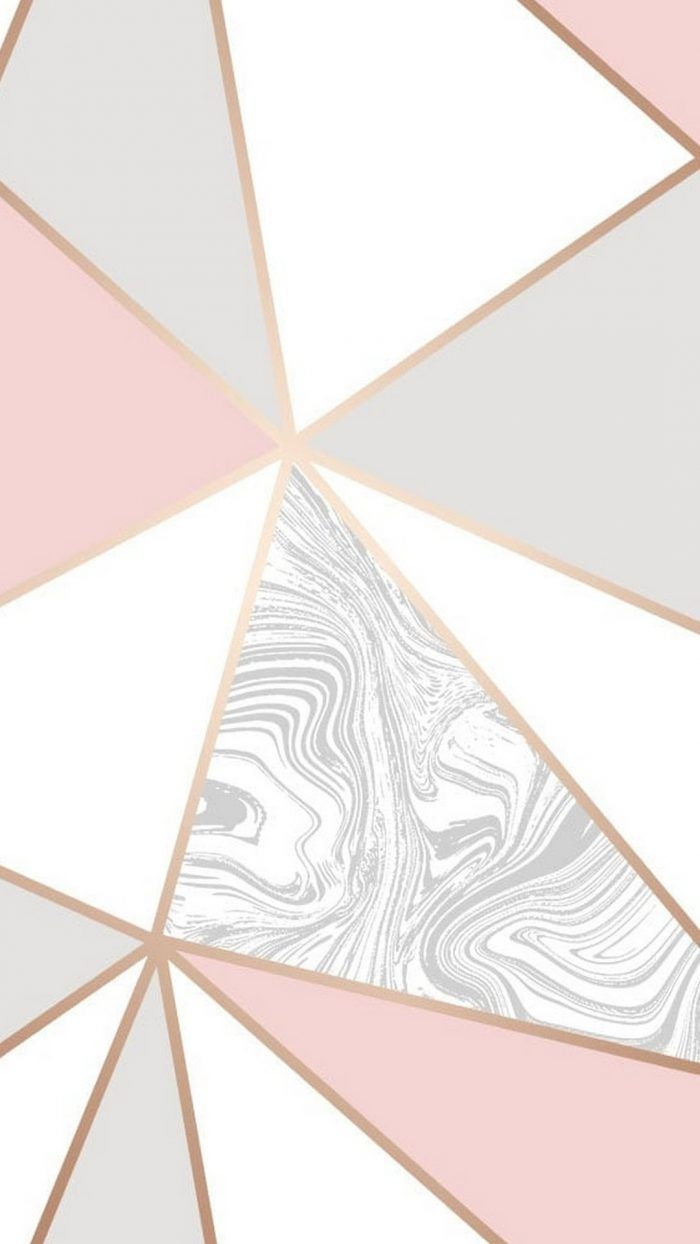 Home Screen High Resolution Rose Gold Marble Wallpaper
