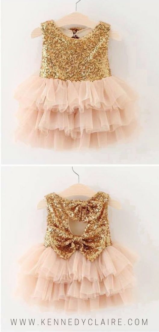 Gold Sequin Dress for baby girls and toddlers. Adorable fancy dresses and free shipping over $75!