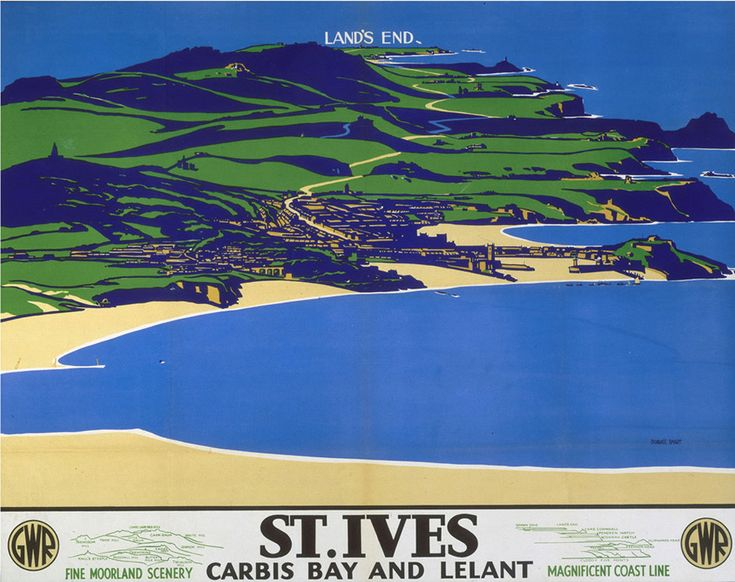 St Ives - Carbis Bay and Lelant Art Print by National Railway Museum   King & McGaw