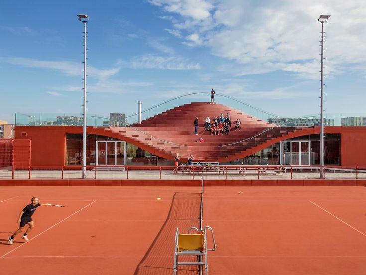 MVRDV completes public venue for amsterdam's IJburg tennis club
