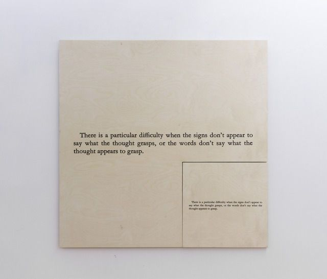 No Number (E)(+216 Augustine's Confessions), 1989, by Joseph Kosuth