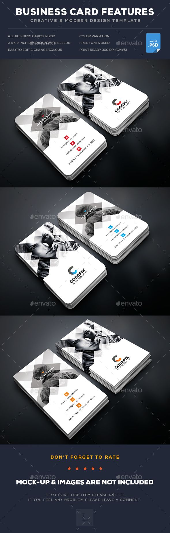 37 best business cards images on pinterest business card design creative photography business card cheaphphosting Images