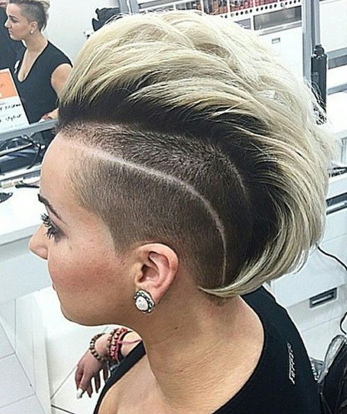 chic black and white mohawk