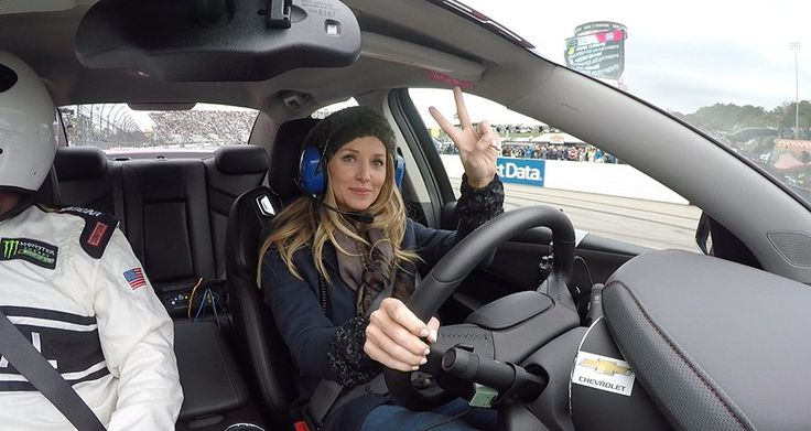 Amy Earnhardt, wife of Dale Earnhardt Jr. was the honorary pace car driver at Martinsville Speedway. Ride along as she paces the field at the paperclip.