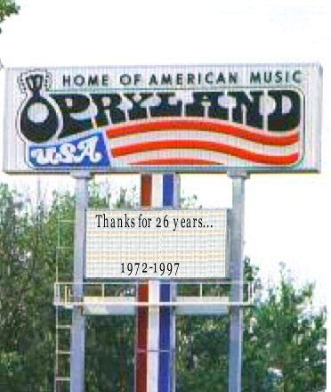 Opryland Sign. The park operated from 1972-97. :( miss the screamin' delta demon! Or the walbash cannon ball! This place was so much fun! The last time I was there was August 30, 1997. I remember that date because it is the day that Princess Diana died :(
