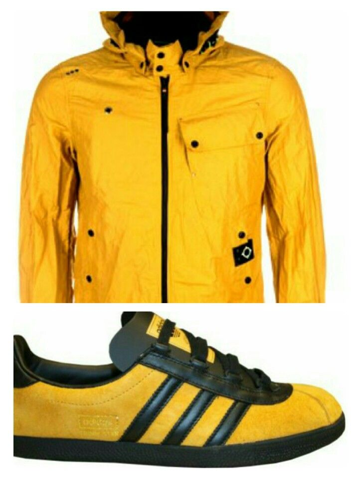 MA.STRUM Despatch jacket looks perfect teamed up with adidas Trimm Stars in Gold/Black