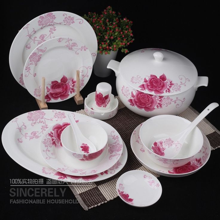 Ceramic tableware 56-quality bone China tableware bowls set Xiang Xie Lishe Palace tableware & 24 best Dinnerware images on Pinterest   Dinner ware Cutlery and ...