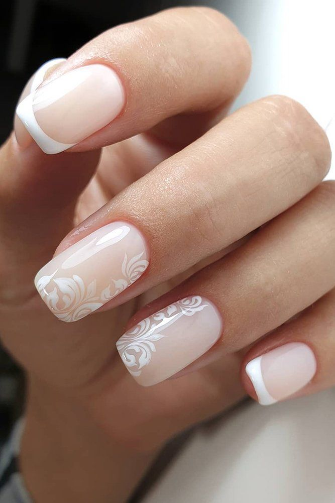 30 Pinterest Nails Wedding Ideas You Will Like Wedding Forward In 2020 Bride Nails French Nails Lace Wedding Nails