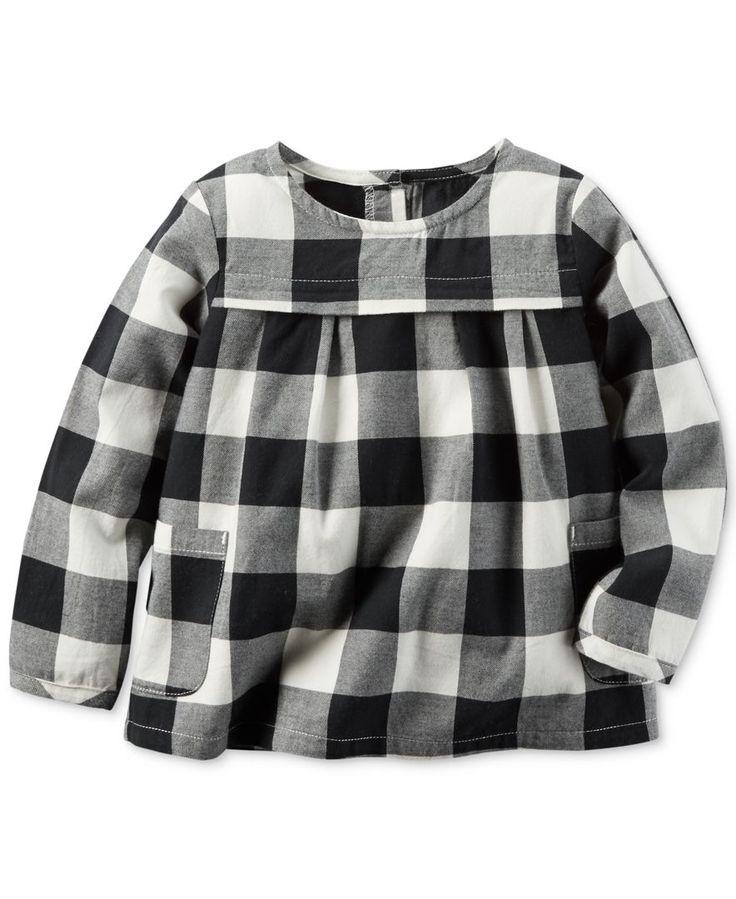 Carter's Flannel Check Babydoll Shirt, Little Girls (2-6X)
