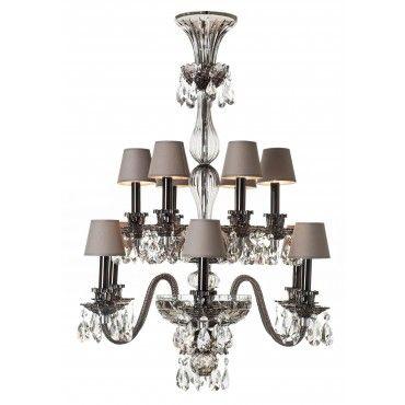 Saint-Louis   12-light flannel-grey Grand Siècle chandelier   33000 Euros  sc 1 st  Pinterest & 113 best Saint Louis Crystal images on Pinterest   Saint louis ... azcodes.com