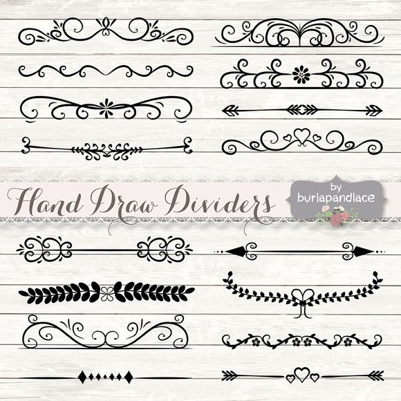 Check out Hand Draw Dividers cliparts by burlapandlace on Creative Market