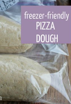 """This is the BEST and easiest pizza dough ever. I use this recipe all the time... in fact, we rarely order pizza because this recipe is so good, so simple, and can be made in batches and frozen ahead!"""