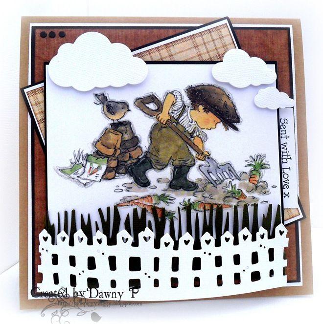 LOTV - Vintage Boys Art Pad. Card by Dawny P