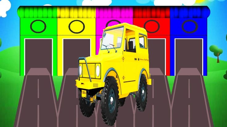 Truck Cars Colors for Kids - Learning Educational Video | Learn Toy Vehi...