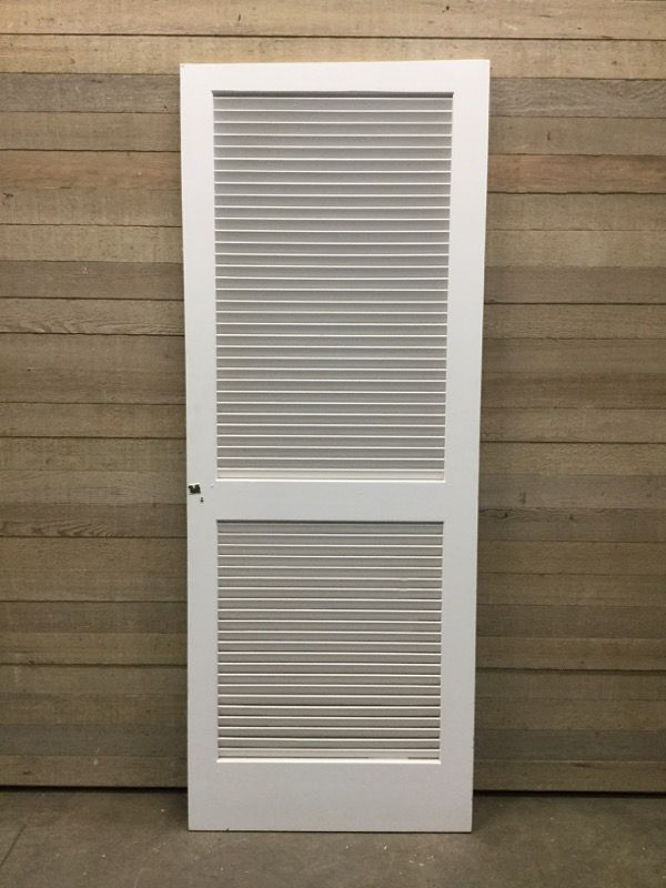 30 Louvered Interior Door From Second Use Painted Louvered Closet