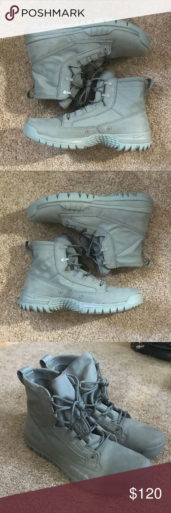 Nike SFB Army Green 631360-220 Special Forces Selling a Brand New pair of Nike Special Forces Boot SFB Shoes in Army Green Color! These are awesome!  No box Mens US 10 // UK 9 // EU 44 Nike ID 631360-220 Nike Shoes Sneakers