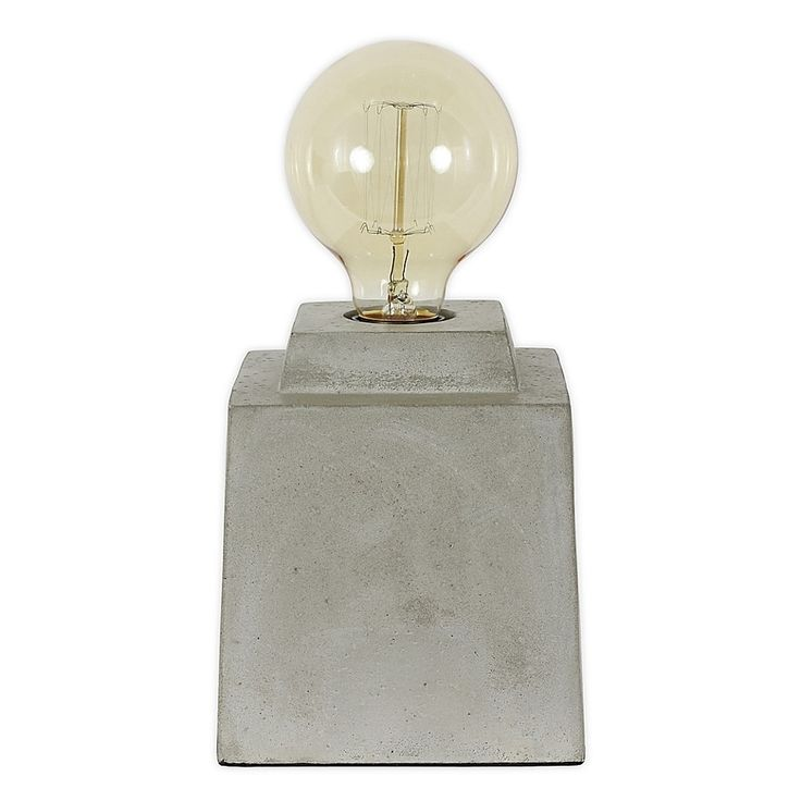 Enzo Square Concrete Table Lamp With Edison Bulb 2020 Decorative Light Bulbs Energy Efficient Light Bulbs Decor Therapy