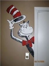 dr. suess door decorations | Dr Seuss Cat in the Hat window/ door hugger mural