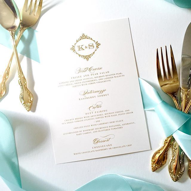 Gold on gold! Gorgeous gold metallic thermography wedding menus for #lawsonsatlast wedding this weekend! #abigailchristinedesign #acdesign #abigailcdesigns #wedding #weddingdesign #weddingmenu #goldismyneutral #customdesign #wedopretty