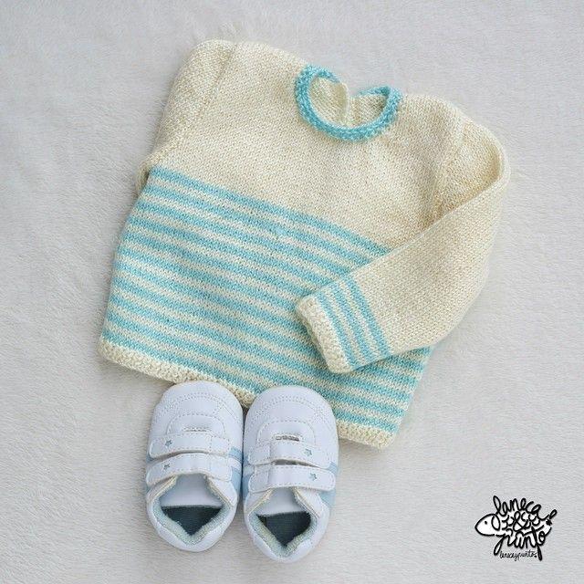 ¡Buenos días! Mirar que cosita más dulce he tejido  para el bebe de una amiga que esta apunto de nacer... ❤️❤️ me encanta el aguamarina .... #knitforkids #knitaddict #knitstragram #knitforfun #knittedinspiration #i_loveknitting #knitforbaby #Jentestrikk #knitting