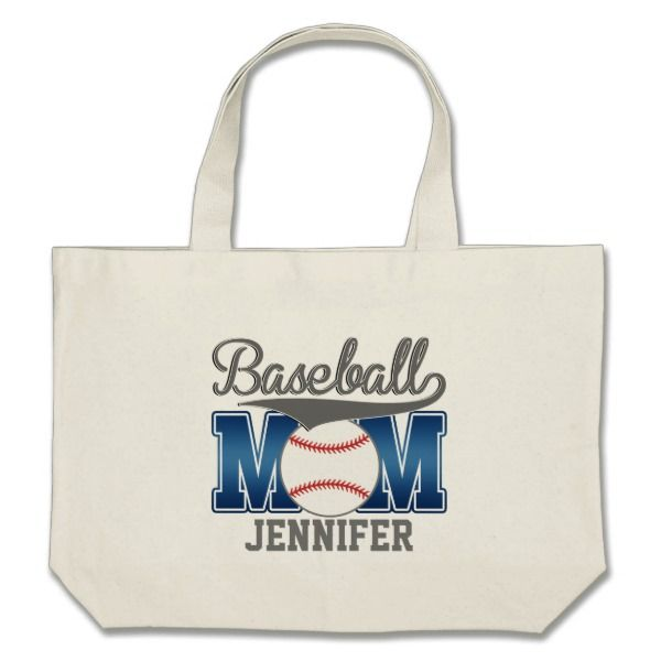 Your Favorite Ball Player Will Love To See Their Name On This High Quality American Made Canvas Tote Bag Baseball Tote Bag Baseball Mom Baseball