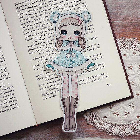 Bear Cape Girl Bookmark (◕ᴥ◕) Kawaii Panda - Making Life Cuter