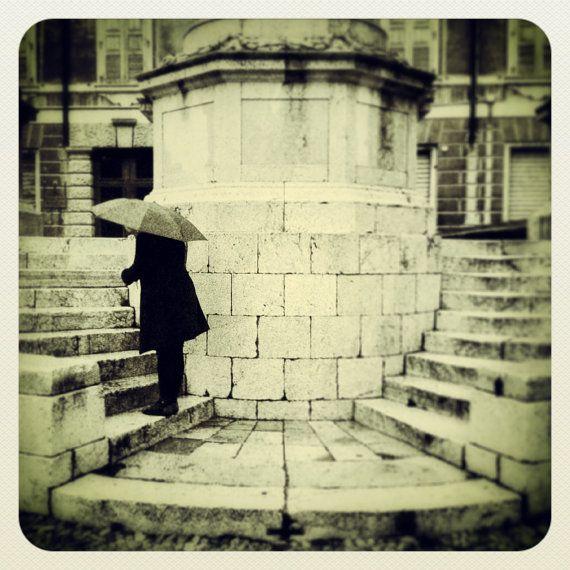 "Original Miniature Photography ""Rain and steps"""