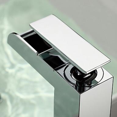 Zeitgenössische Wasserfall Chrom-Finish Waschbecken Wasserhahn (groß) 98,99 €