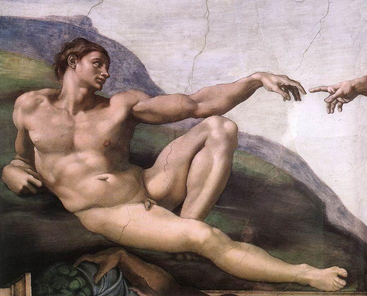 Creation of Adam in the Sistine Chapel by Michaelangelo