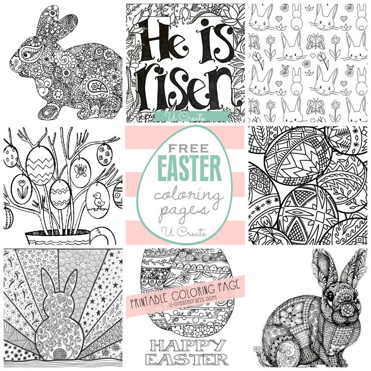 Free EASTER Coloring Pages At U Create
