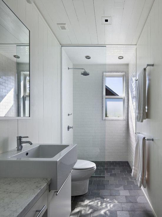 ... Bathroom Ideas Long Narrow Space
