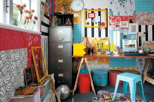 Ну очень яркий офис от LeeAnn Yare