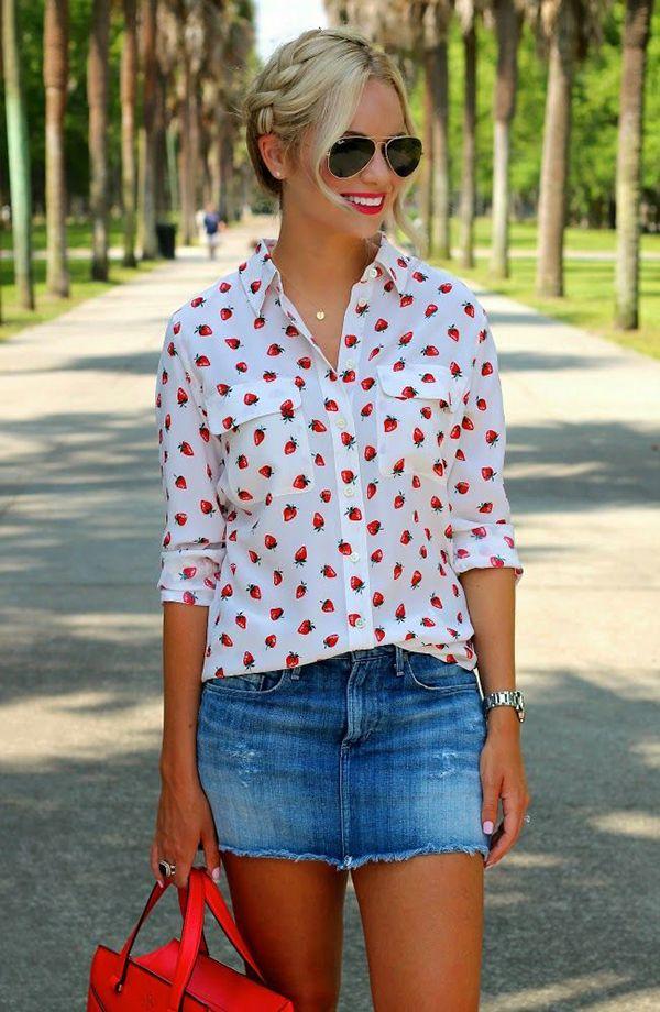 25  best ideas about Denim mini skirt on Pinterest | Jean skirt ...