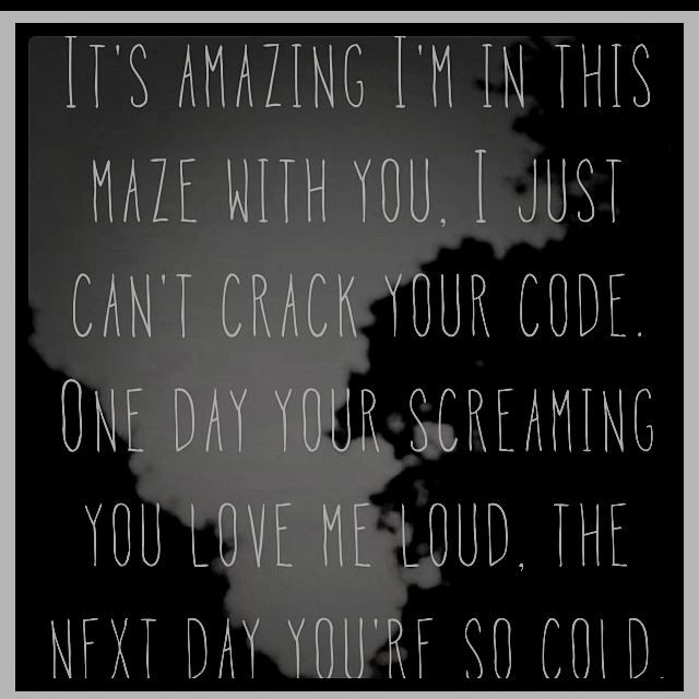 "Newest fave song! Justin Timberlake & Jay Z - Holy Grail lyrics ""...I just can't crack your code. One day you're screamin' you love me loud, the next day you're so cold. One day you're here. One day you're there. One day you care - you're so unfair, sipping from your cup til it runneth over...Holy Grail"""