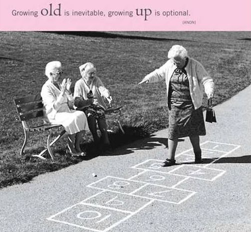 """""""Growing old is inevitable; growing up is optional"""" ~ Anon • photo: Charles Cormany / Getty Images"""