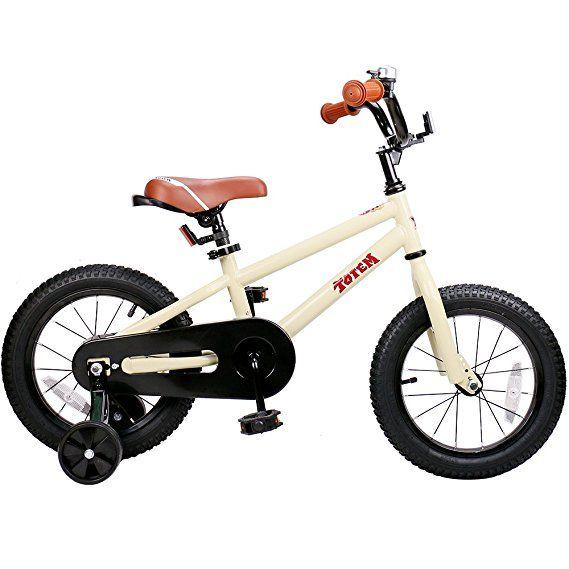 Joystar 14 Inch Beige Kids Bike For 3 5 Years Boys Girls Unisex