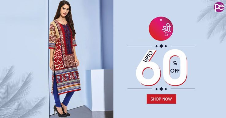 Thought the sale was over? THINK AGAIN. Get UPTO 60% OFF on Shree Kurtis. Shop Now.
