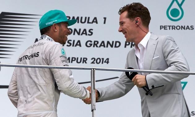 Lewis Hamilton Benedict Cumberbatch Malaysia F1 race