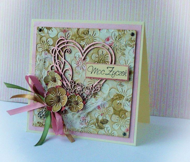 kartka hand made w stylu romantycznym