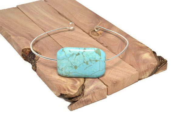 Turquoise bangle bracelet, $15