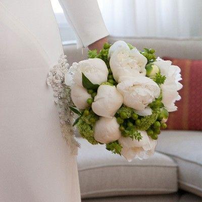Ramo de novia con Peonías Blancas