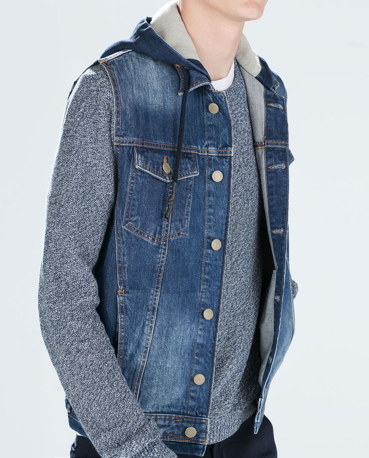 ZARA - SALE - HOODED DENIM PLUSH WAISTCOAT