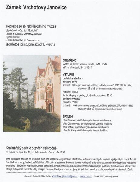 Městys Vrchotovy Janovice | Zámek