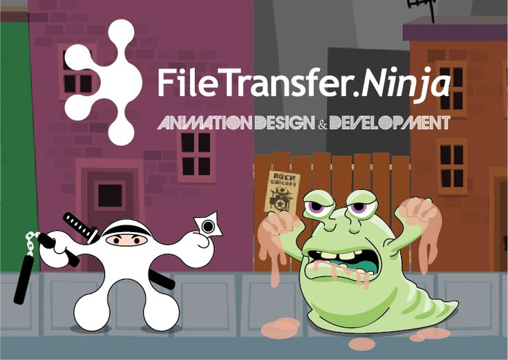 File Transfer Ninja – Background, Character and Graphics Design, Vector Illustration, and Animation for an Unlimi-Tech Software Promotional Video (to be posted soon) introducing their new domain: FileTransfer.Ninja