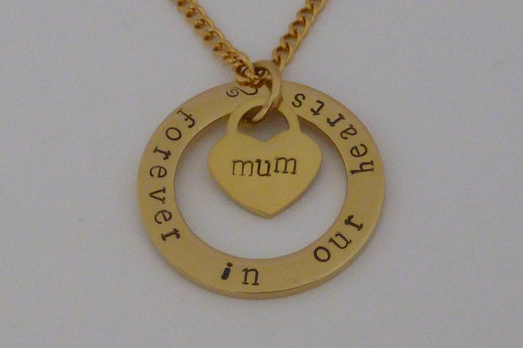 This is the 'Glenda' necklace. 32mm outer diameter and 2mm thick. Available in Stainless Steel Gold $55 and Stainless Steel Silver $45. You can choose your own words to have stamped on it or leave it blank.