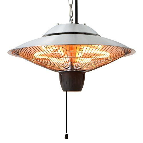 EnerG+ Hanging Electric Infrared Heater - Silver