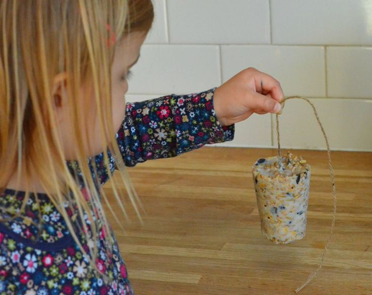 How to make your own bird feeders, a simple, fun activity for children which will encourage wild birds to visit your garden