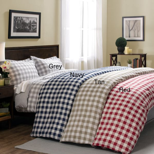 Harvard 300 Thread Count 3-piece Print Duvet Cover Set | Overstock.com Shopping - The Best Deals on Duvet Covers