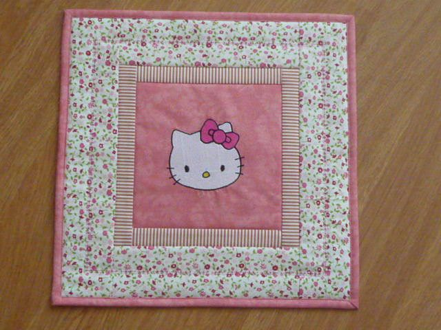 pillow - embroidered Hello Kitty