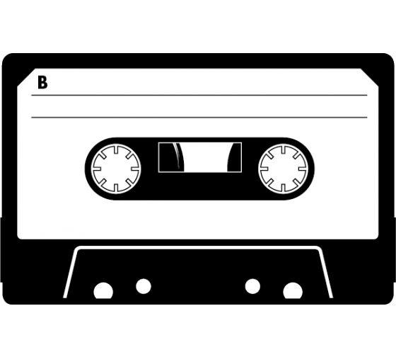 Vintage Audio Cassette Wall Sticker Art Casette Tapes